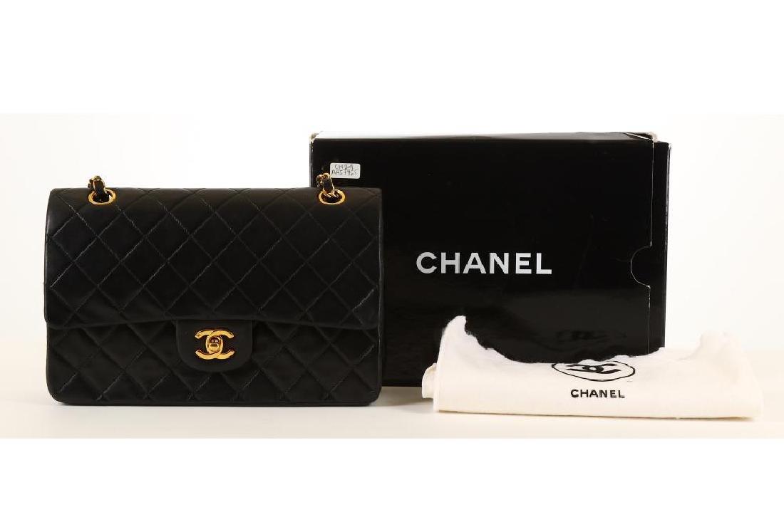 Chanel Black Classic 2.55 Double Flap Bag, c. 1986-88, - 6