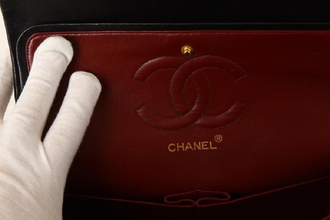 Chanel Black Classic 2.55 Double Flap Bag, c. 1986-88, - 7