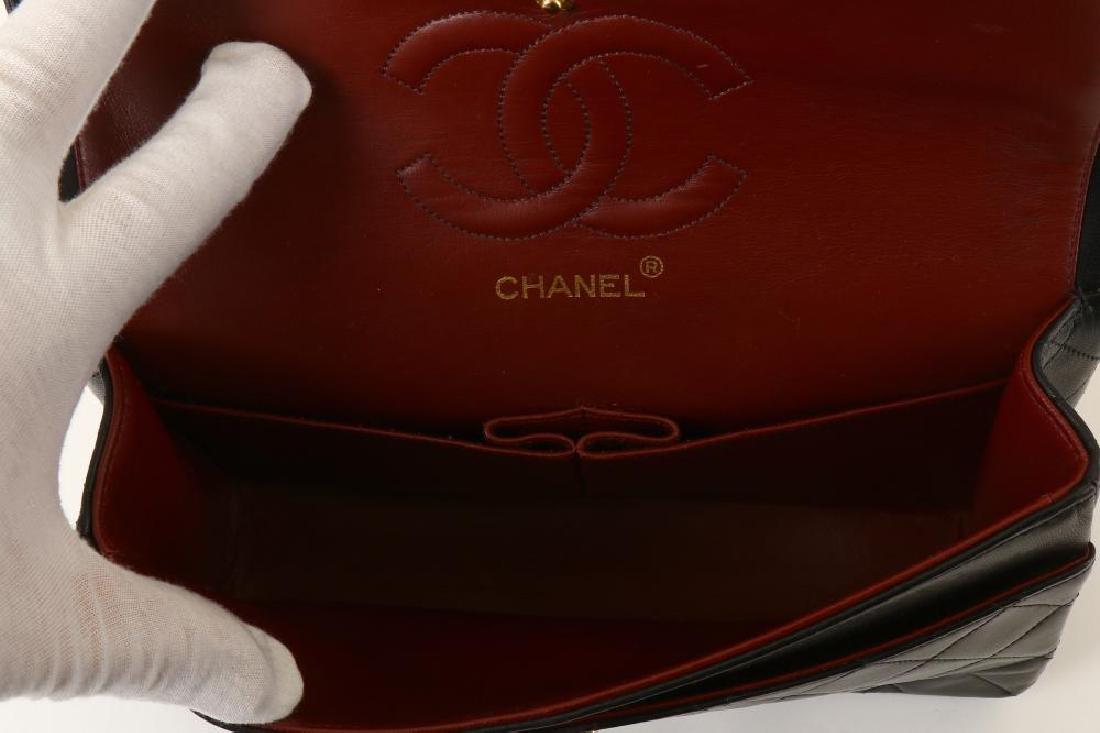 Chanel Black Classic 2.55 Double Flap Bag, c. 1986-88, - 8
