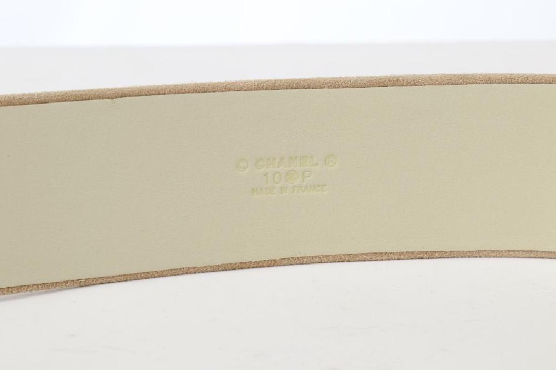 Chanel Suede and Gilt Metal Belt, Spring 2010, beige - 5