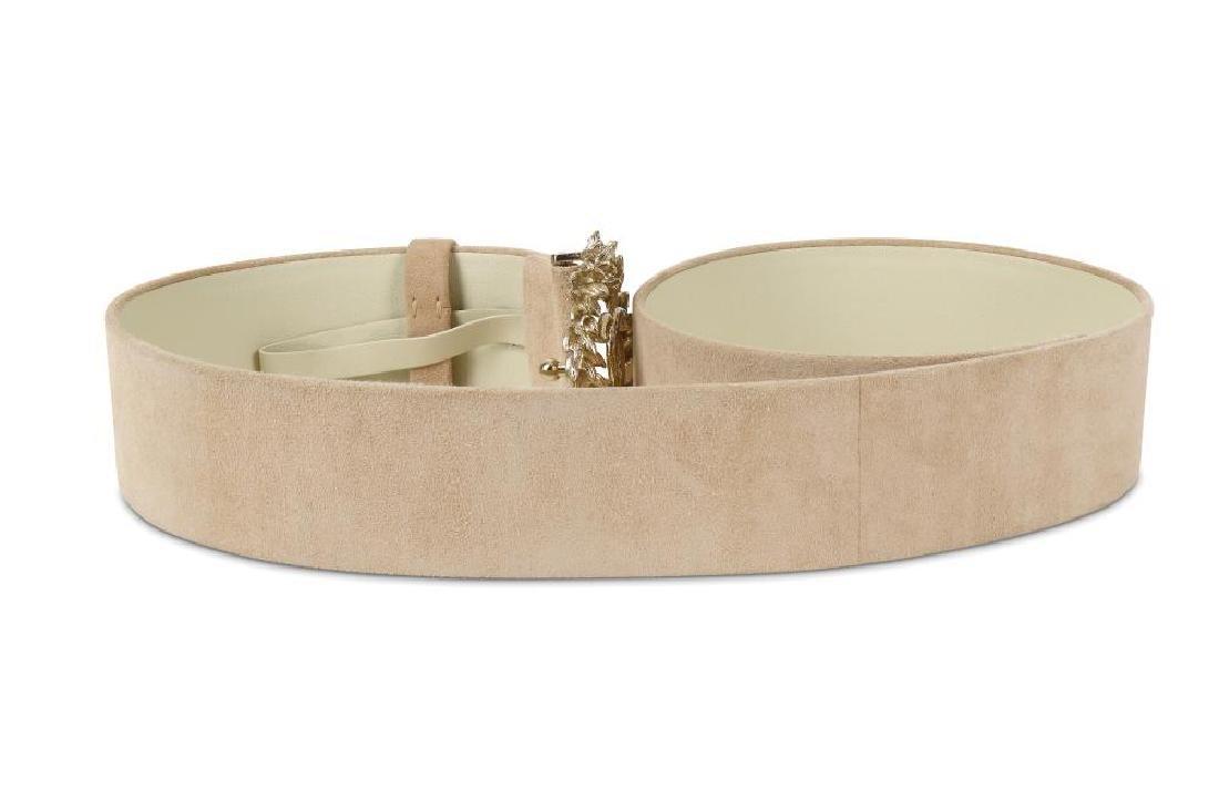 Chanel Suede and Gilt Metal Belt, Spring 2010, beige - 6