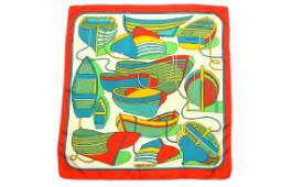 Herms Thalassa Silk Scarf designed in 1973 by