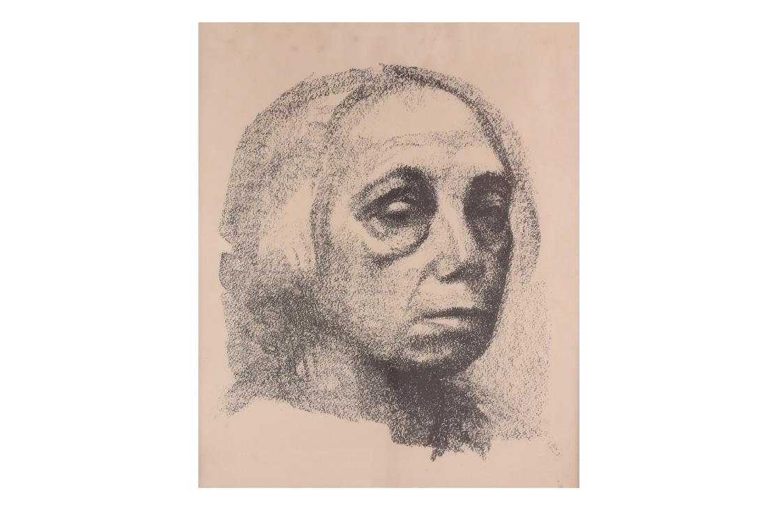 Kollwitz (Kathe) Small Self-portrait, lithograph, from