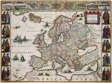 Blaeu Willem Europa recens descripta map of Europe