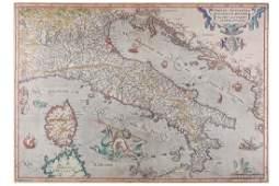 Italy.- Ortelius (Abraham) Italiae Novissima