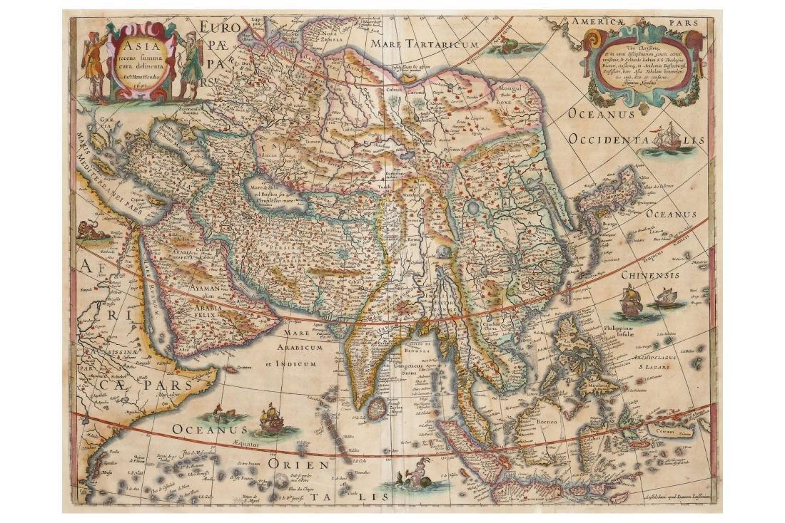 Jansson (Jan) & Hondius (Henricus) Asia recens summa