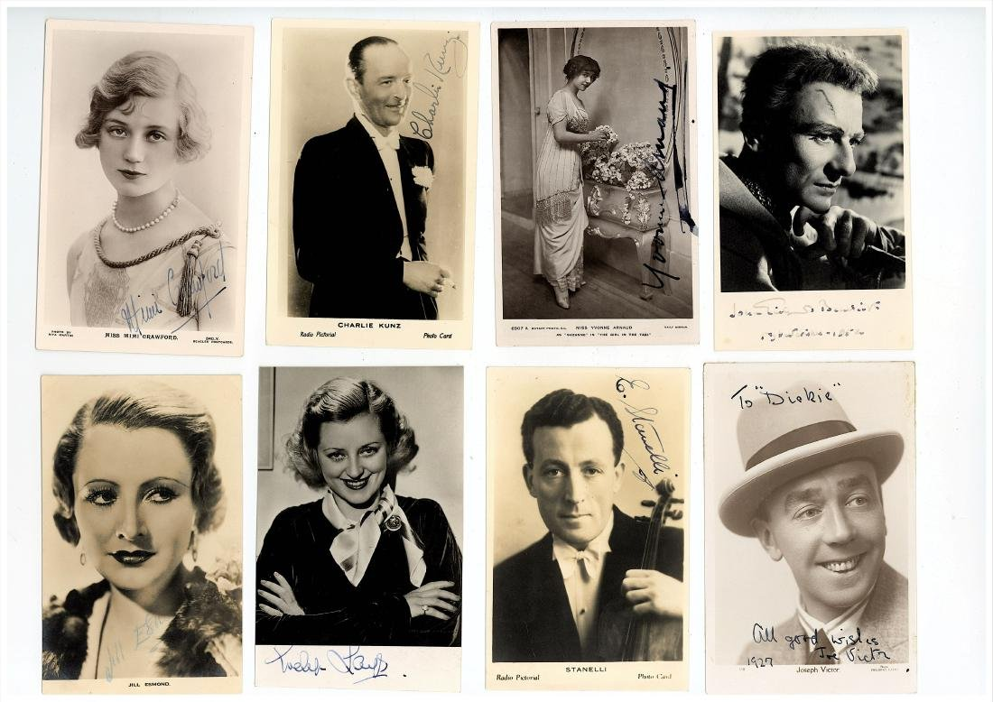 Photograph Collection.- Actors & Entertainers A large