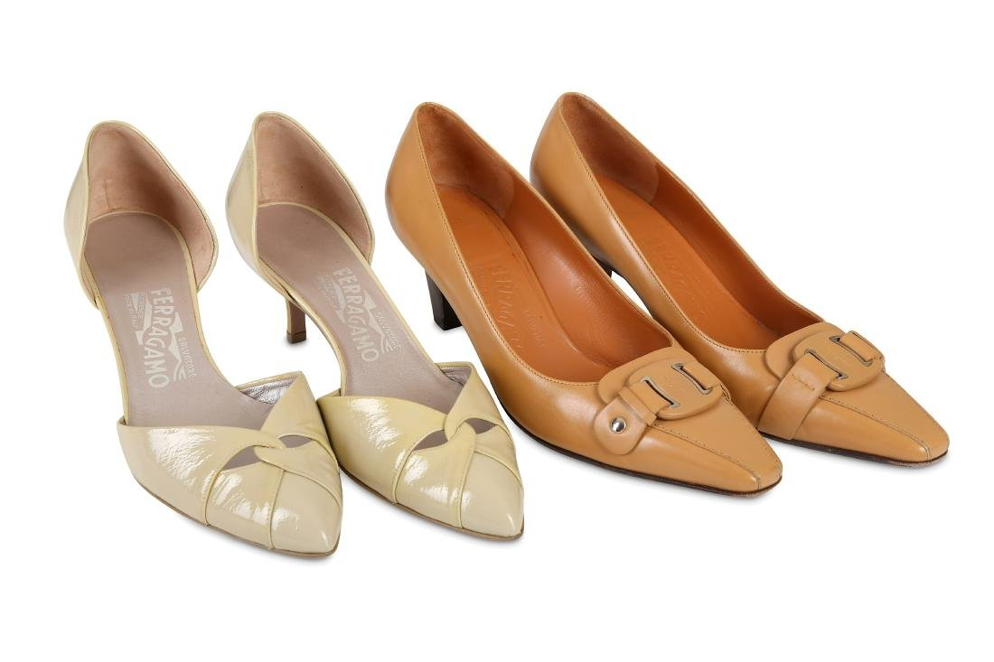 Two Pairs of Salvatore Ferragamo Heels