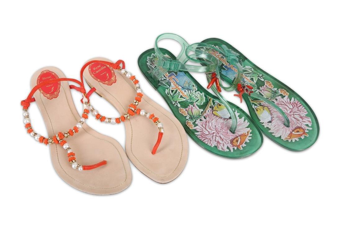 Two Pairs of Designer Sandals