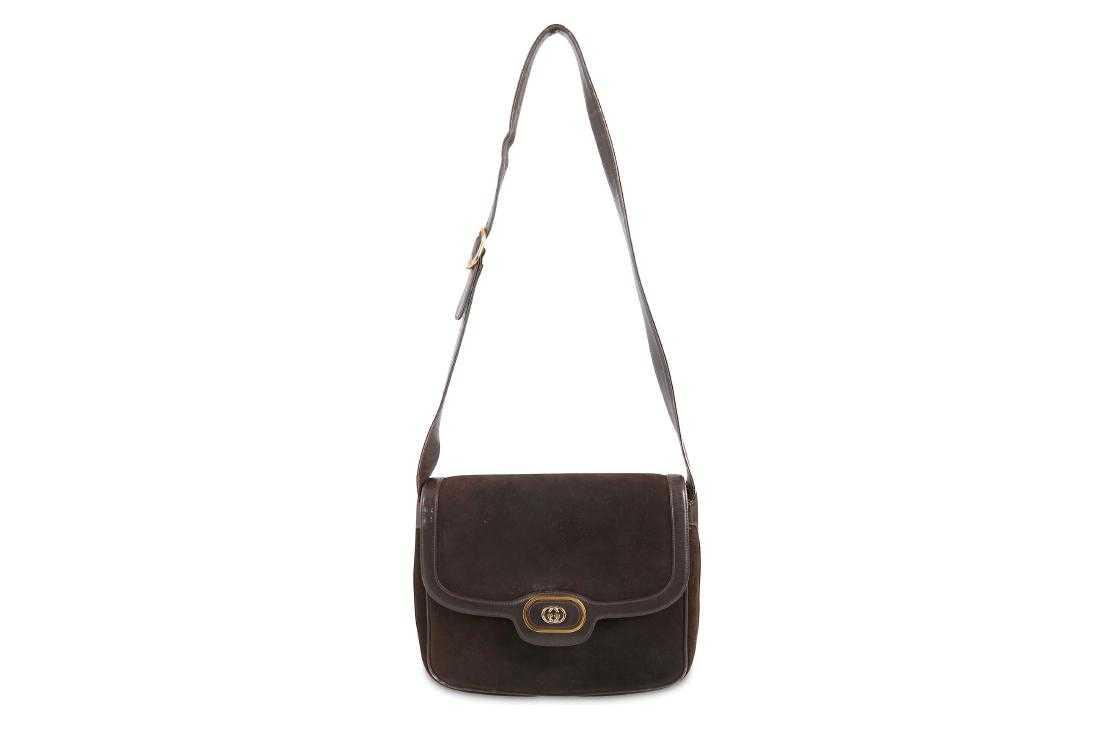 3c6acd099 Gucci Brown Suede Shoulder Bag