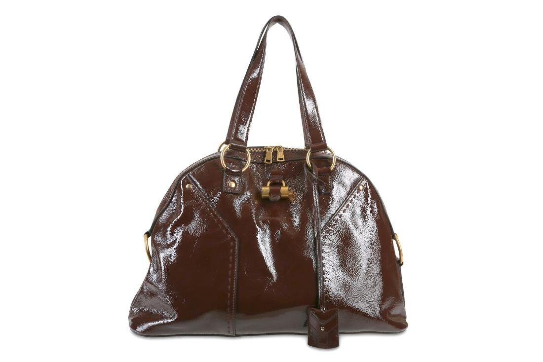 f84e70d69a6 Yves Saint Laurent Brown Patent Muse Tote - Jun 05, 2019 | Chiswick  Auctions in United Kingdom