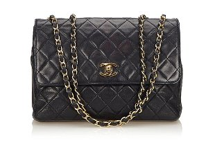 a961a7c7094520 Chanel Black Quilted Shoulder Bag Chanel Black Quilted Shoulder Bag