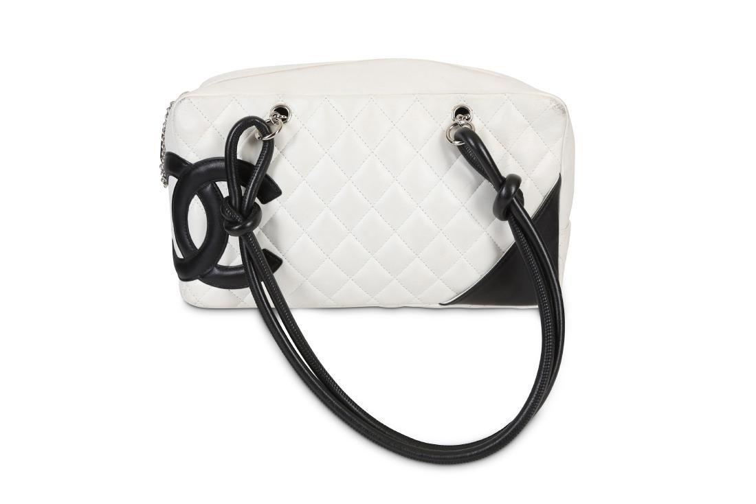 Chanel White Cambon Ligne Shoulder Bag