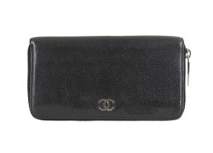 82c7a6b8d503 Chanel Black Caviar Zip Wallet Chanel Black Caviar Zip Wallet