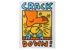 Keith Haring American Crack Down
