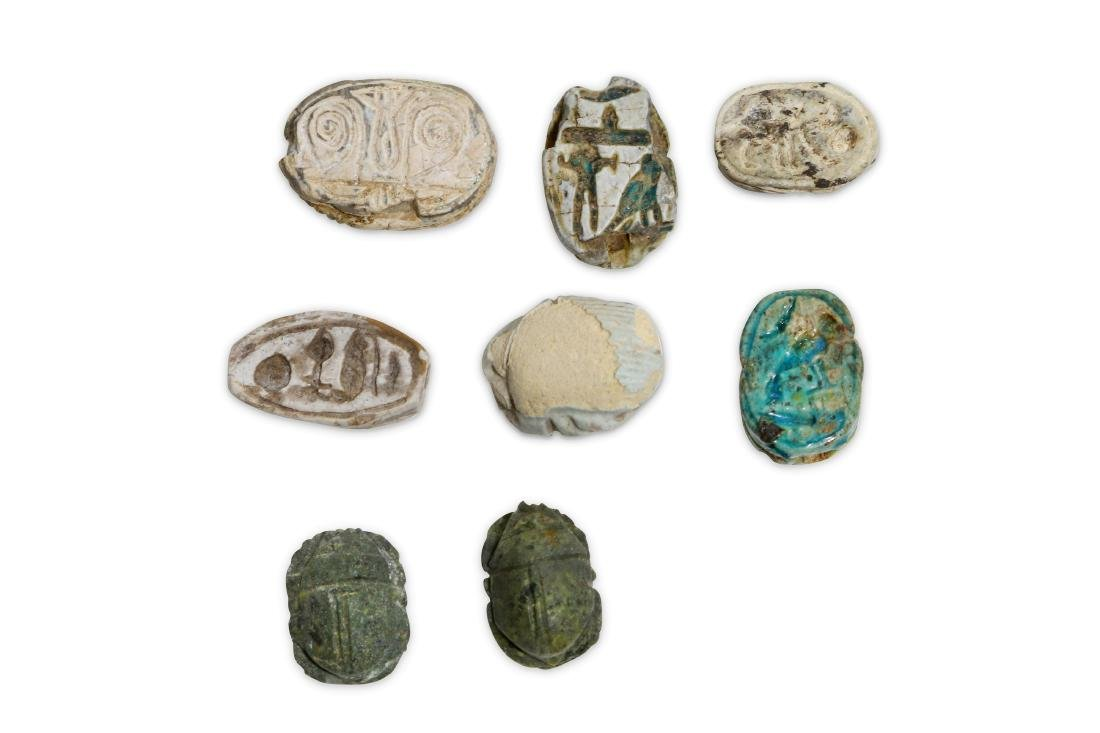 A GROUP OF EGYPTIAN SCARABS