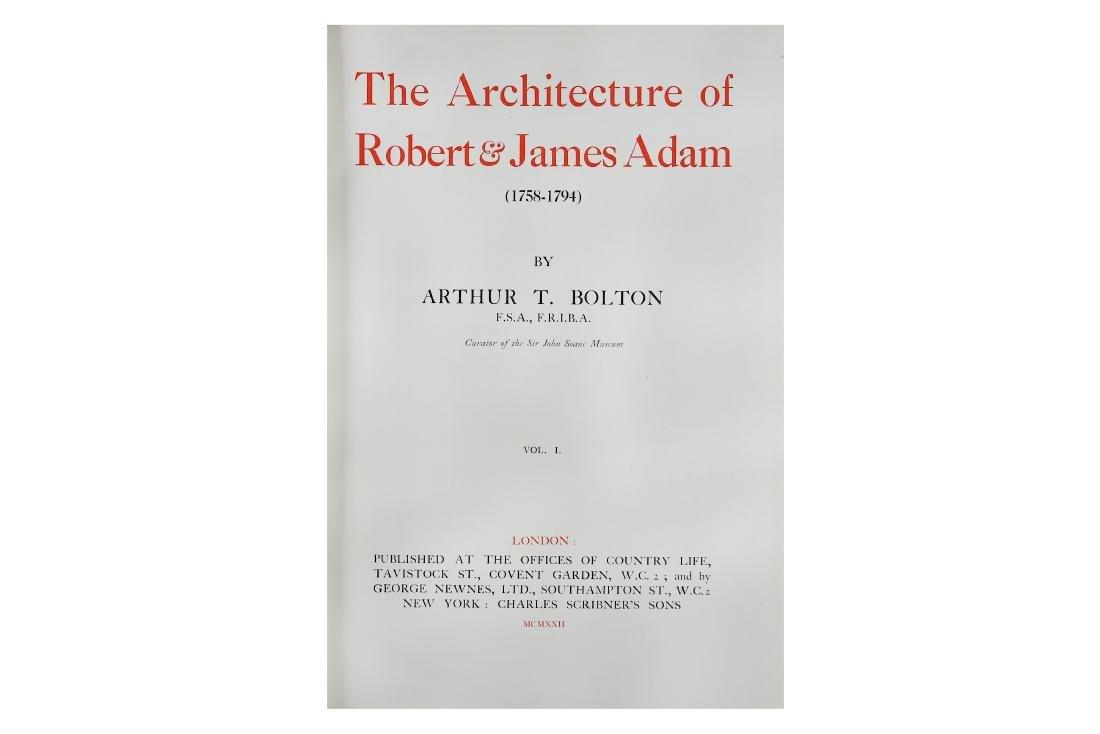 Architecture.- Bolton (Arthur T.) The Architecture of
