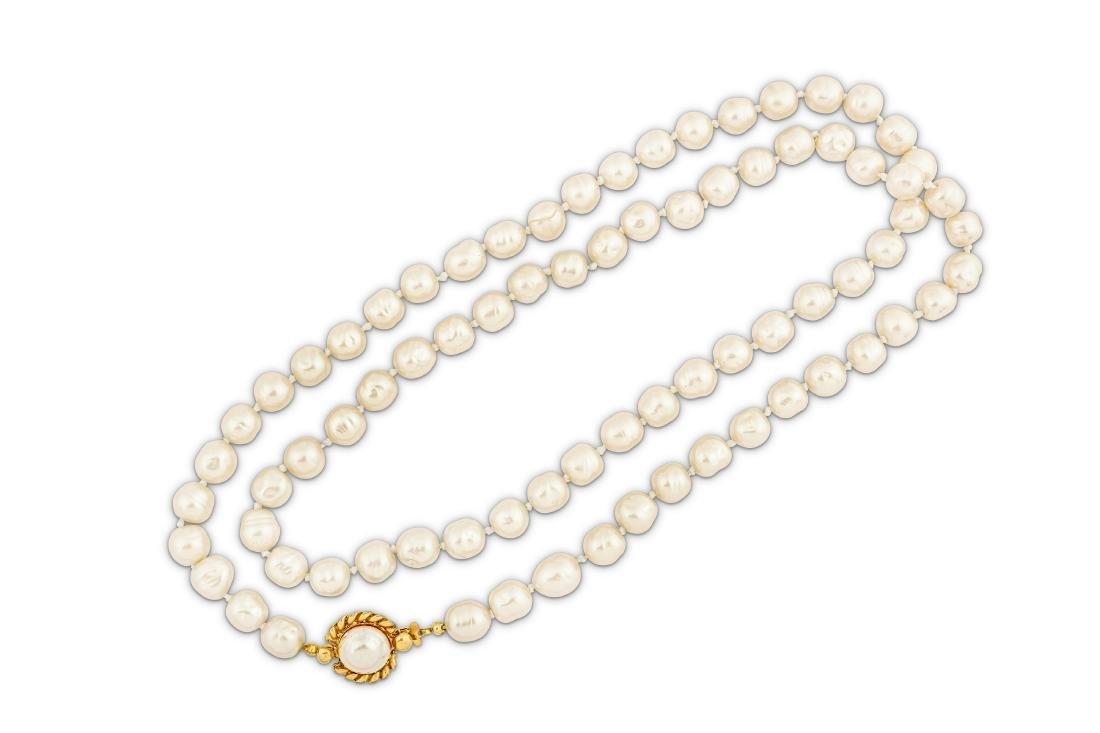 Chanel Simulated Baroque Pearl Sautoir