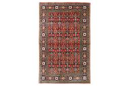 AN EXTREMELY FINE SILK QUM RUG, CENTRAL PERSIA