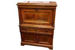 An early 20th Century Continental walnut cabinet