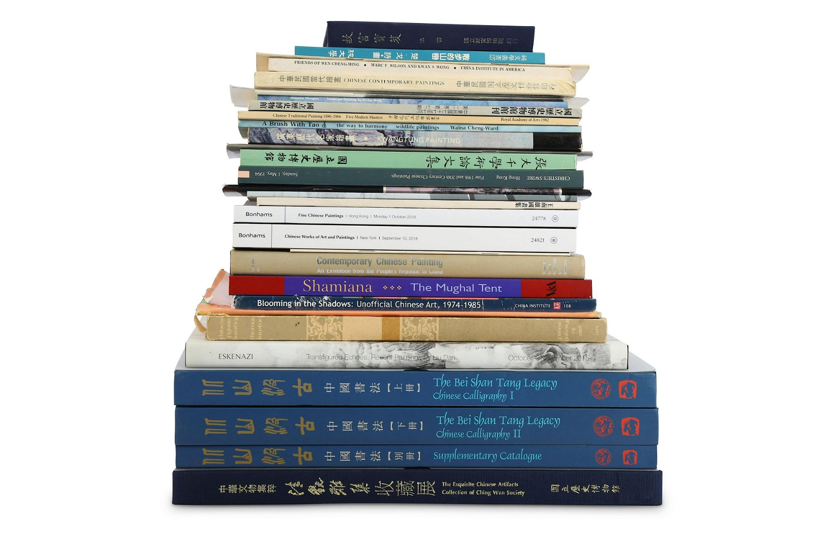 CHINESE ART REFERENCE BOOKS AND AUCTION CATALOGUES