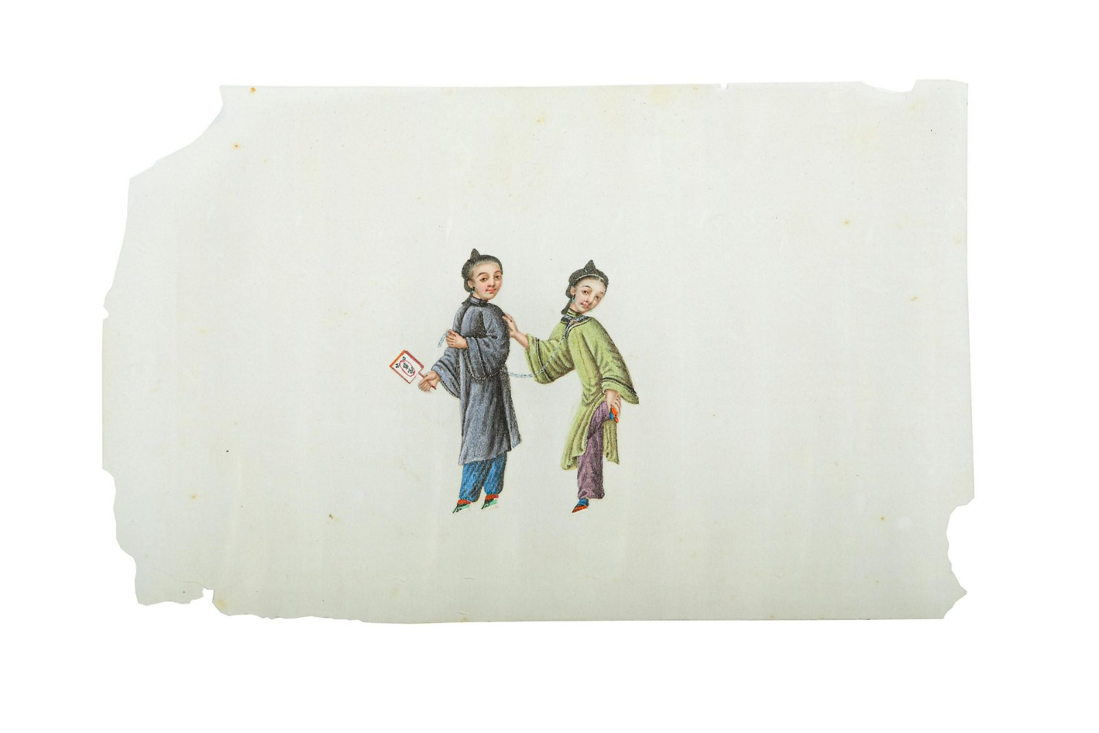 A CHINESE PITH PAINTING ALBUM.