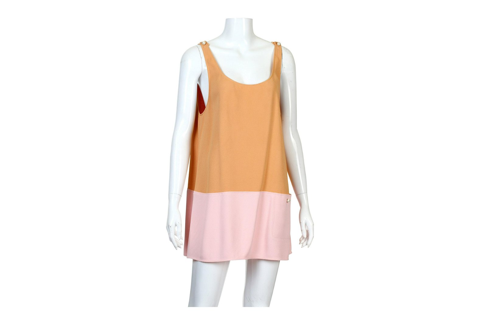 Chanel Orange and Pink Crepe Top/Dress