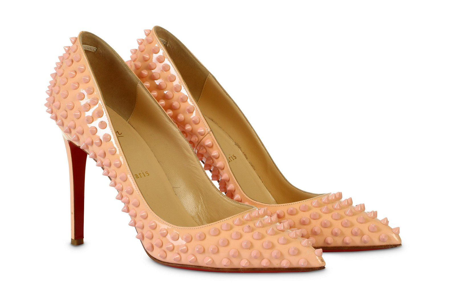 Christian Louboutin Pink Spiked Pigalle 110 Pumps