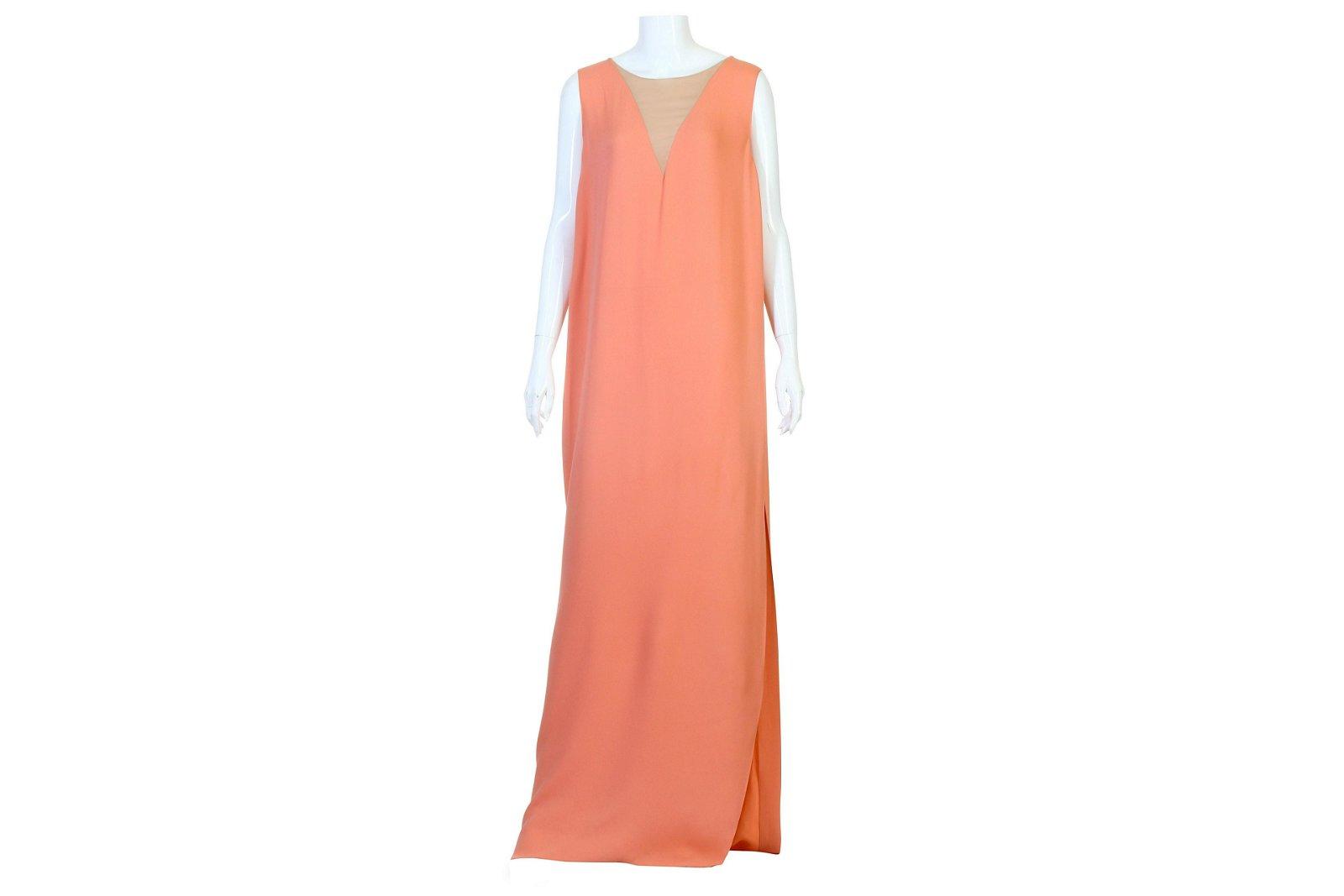 Lanvin Flamingo Pink Shift Silk Dress