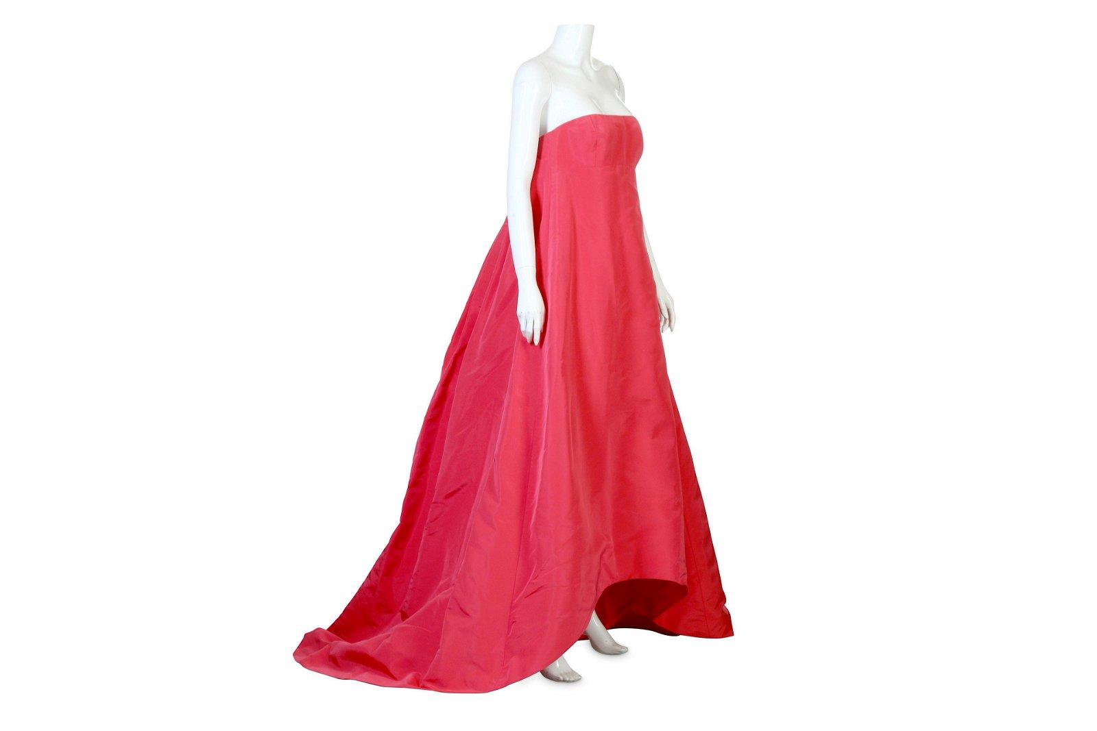 Oscar de la Renta Pink Silk Ball Gown