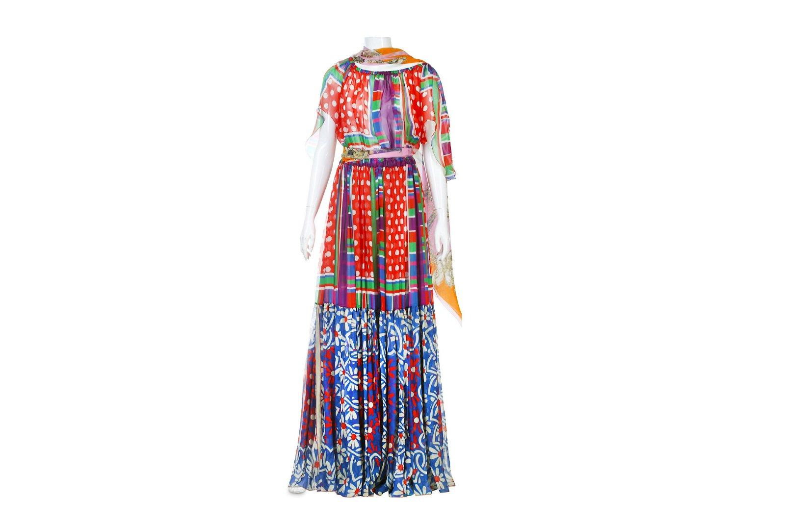 Dolce and Gabbana Silk Scarf Dress