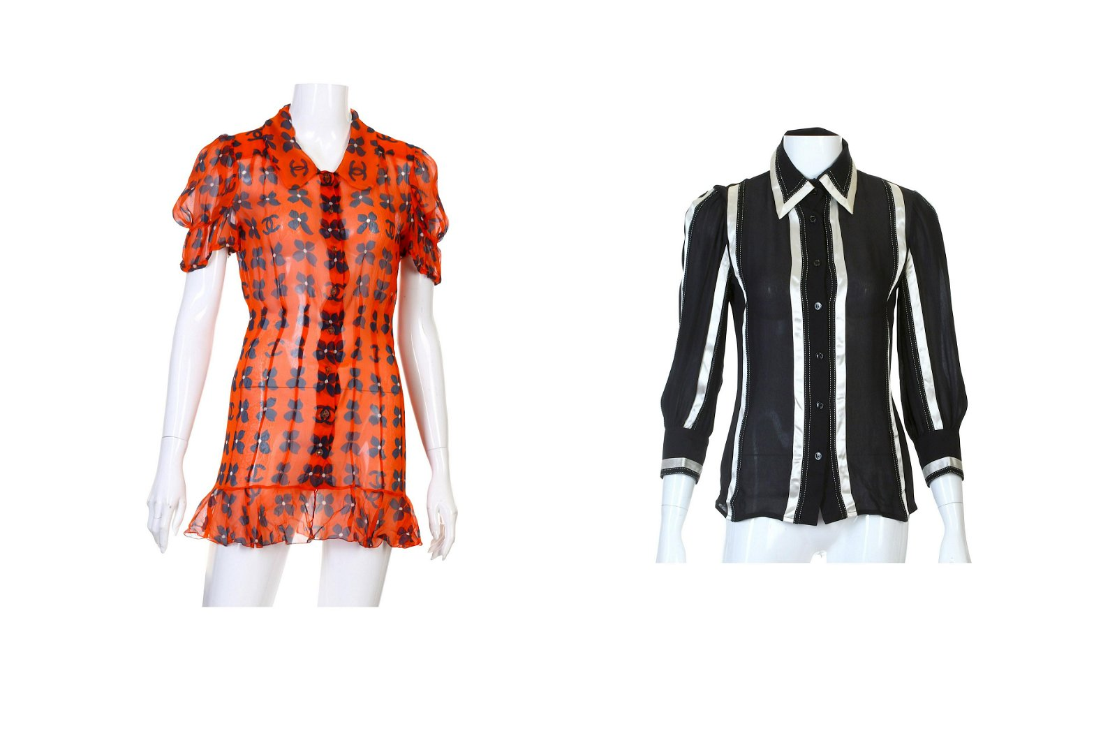 Two Pieces of Chanel Silk Shirts