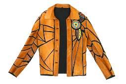 Roberto Cavalli Men's One-Off Leather Patchwork Jacket