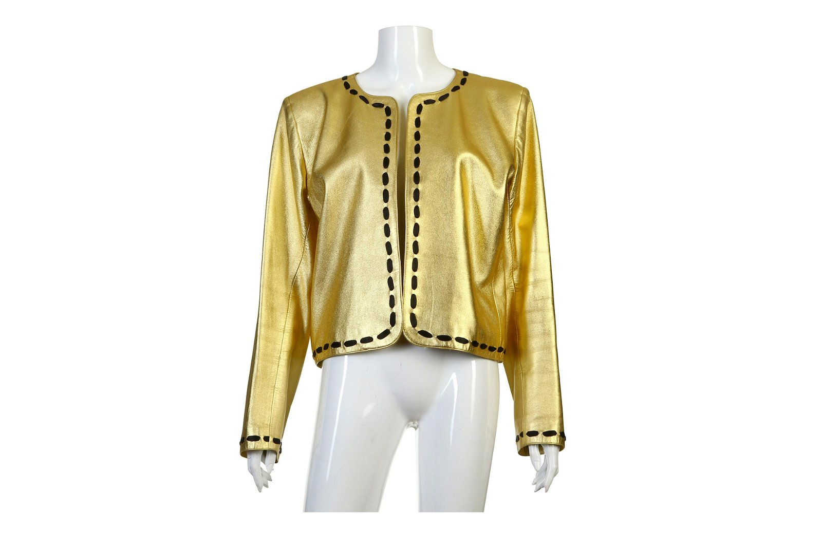Yves Saint Laurent Gold Leather Jacket