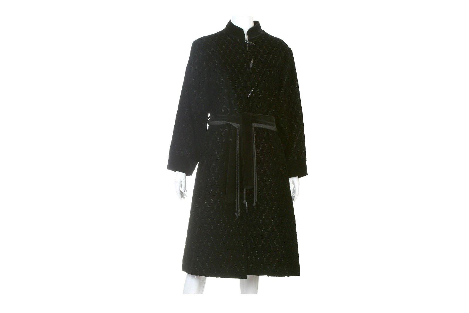 Yves Saint Laurent Black Velvet Coat