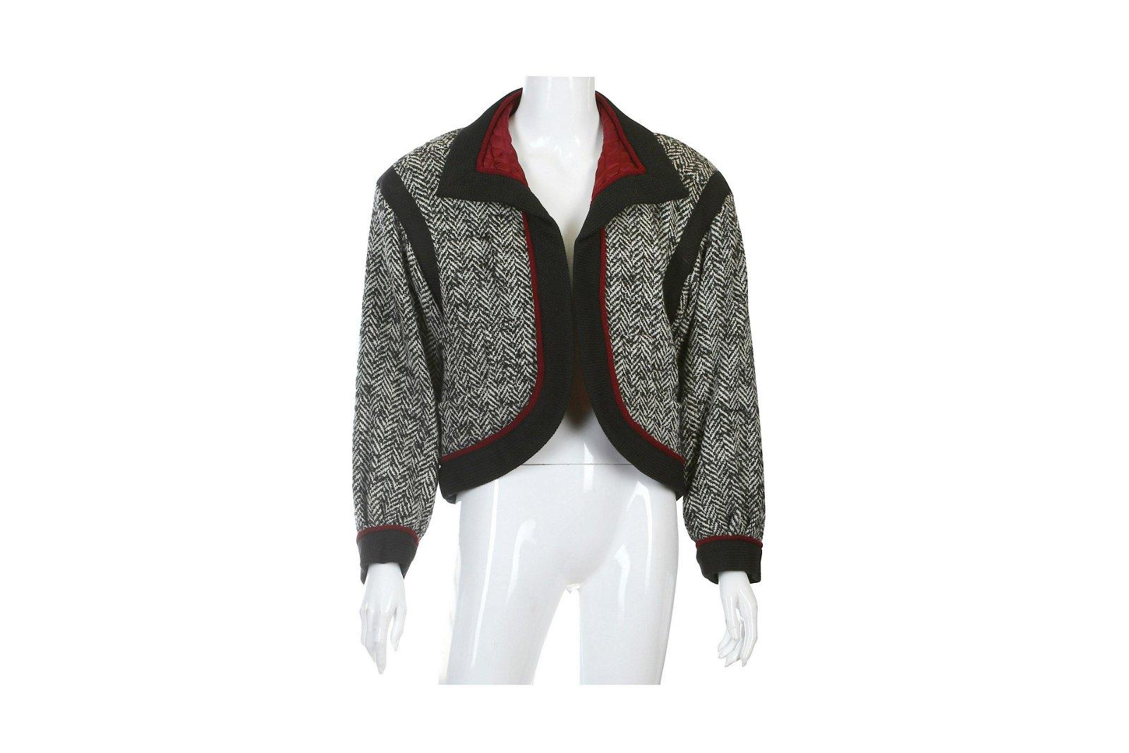 Yves Saint Laurent Black and White Jacket