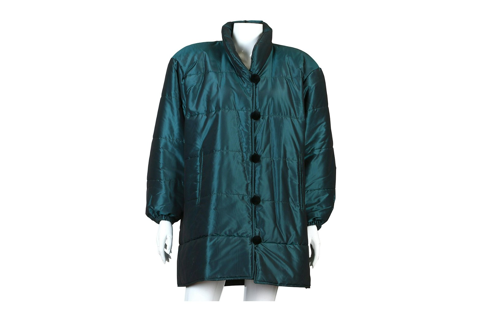 Yves Saint Laurent Teal Puffer Jacket