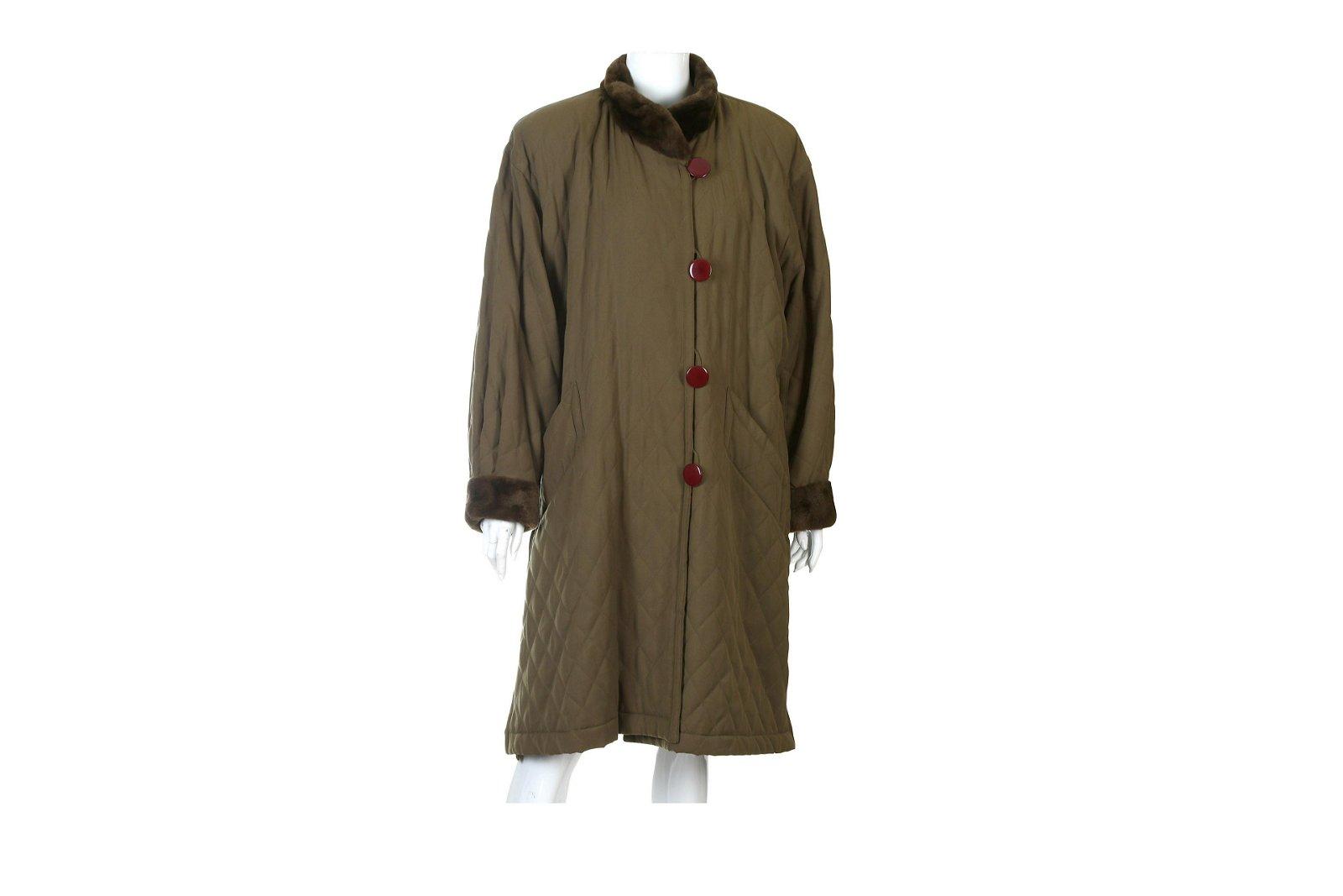 Yves Saint Laurent Khaki Coat