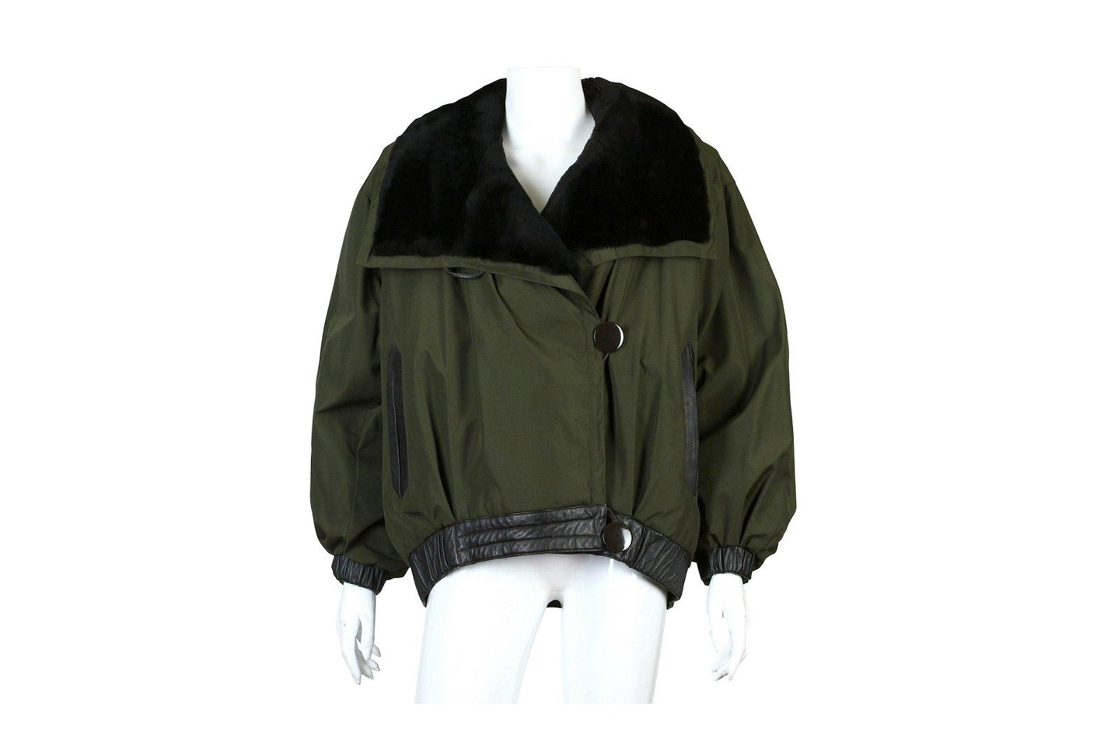Yves Saint Laurent Fourrures Bomber Jacket