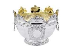 A William III Britannia standard silver monteith,