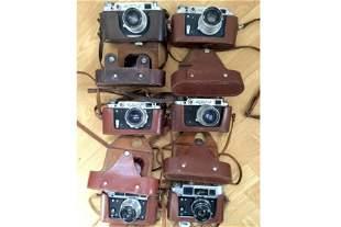 Four FED 2 & Two FED Soviet Rangefinder Cameras.