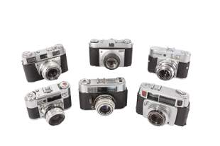A Collection of Mid Century 35mm Cameras