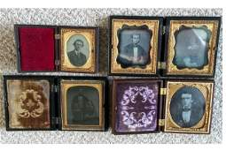 Small Group of Daguerreotypes in Union Cases.