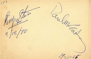 Autograph Album.- Incl. Paul McCartney & Ringo Starr