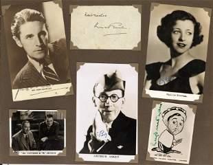 Autograph Albums.- Actors and Entertainers