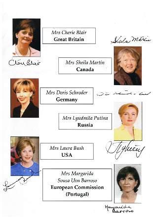 First Ladies.- G8 Summit