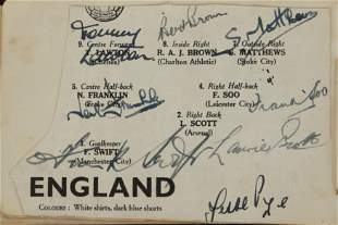 Autograph Album.- Olympics, Boxing, Cricket, Football