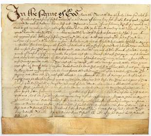 Early Mss Legal documents.-