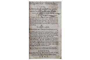 March (John) Actions for Slaunder.....1647