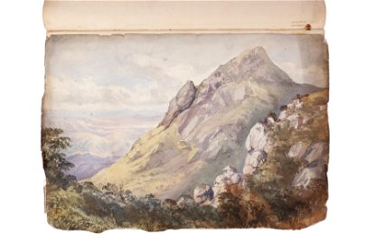 Anglo/Indian 19th Century bound album of watercolours